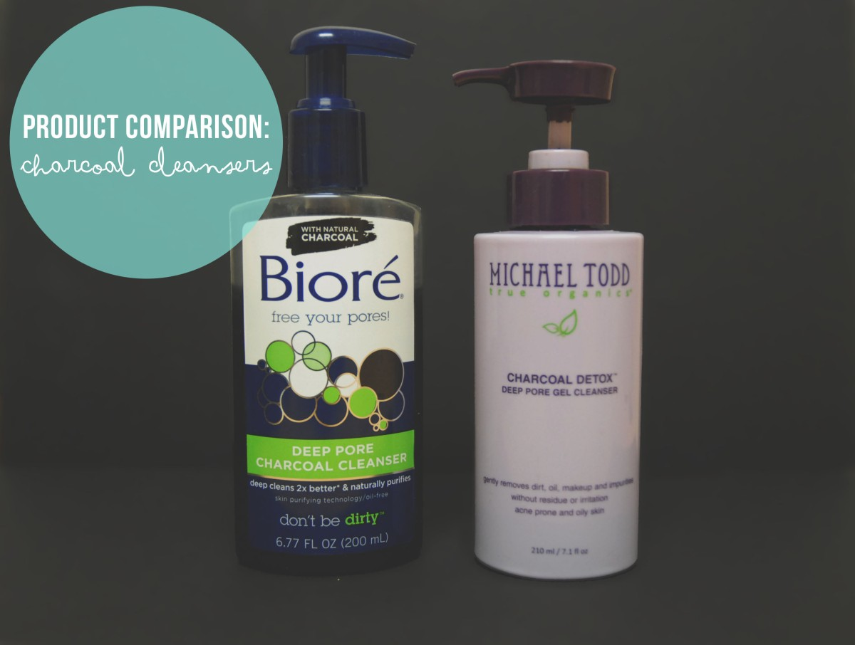 Product Comparison: Charcoal Cleansers [Biore vs. Michael Todd]