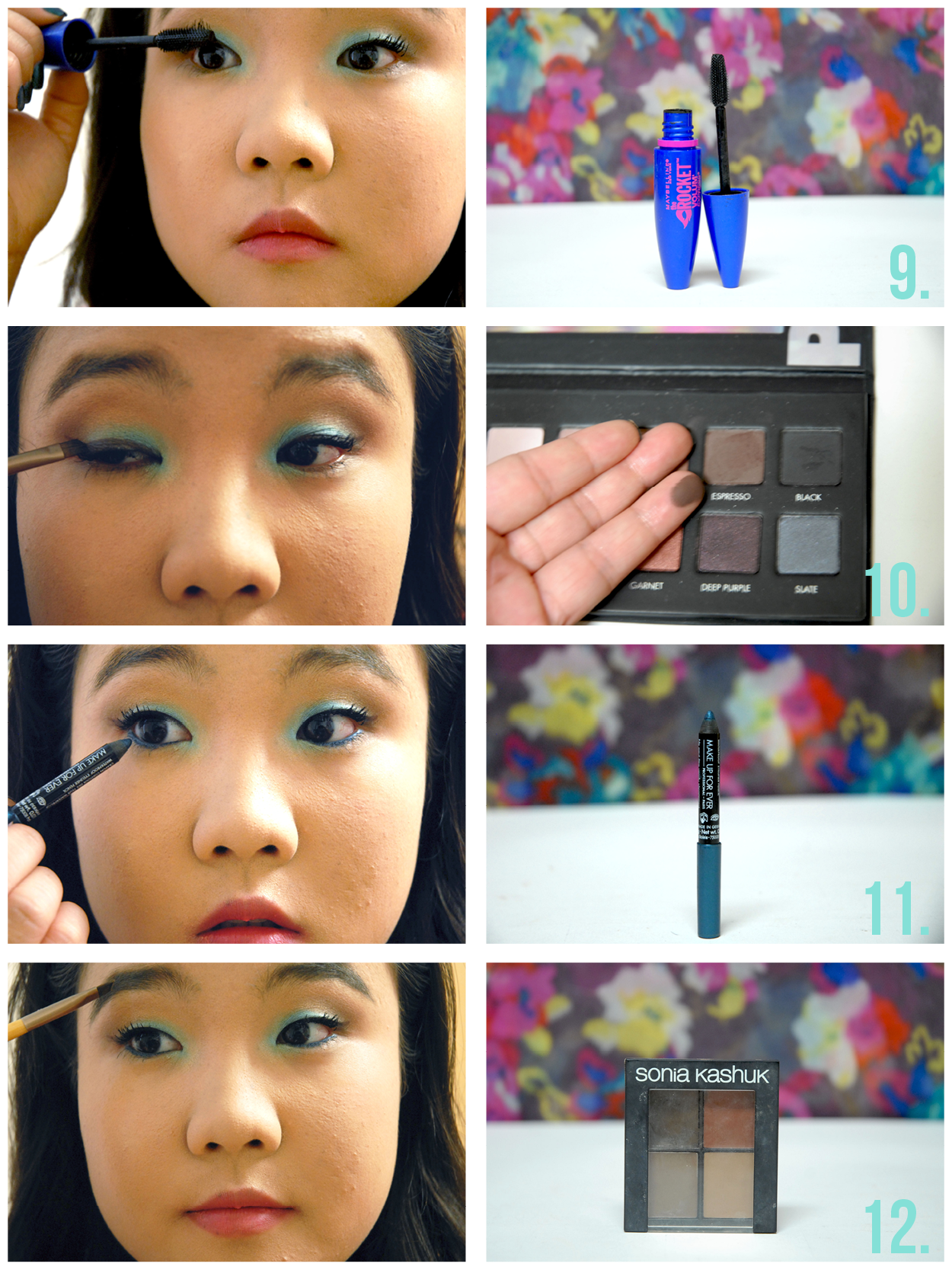 Tutorial summer turquoise gold makeup with everyday option blend along that leftover gold cream base using the matte cream color from the lorac pro on a fluffy blending brush sum15tutorial3 baditri Gallery