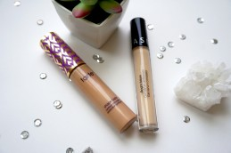 two concealer tubes with quartz crystal, succulent, and silver sequins